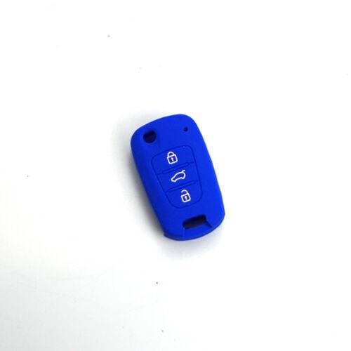 Key Remote Case Cover Silicone Skin Fob For Hyundai i20 i30 IX35 Elantra 3Button