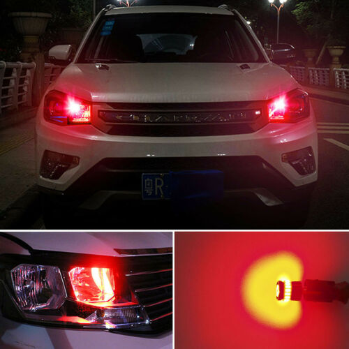10x 24SMD Super Red T10 Wedge CANBUS LED License Plate Light Bulb 194 168 2825