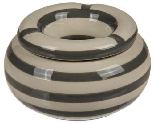 Aschenbecher Sturmaschenbecher Windaschenbecher Keramik »Stripes« Streifen