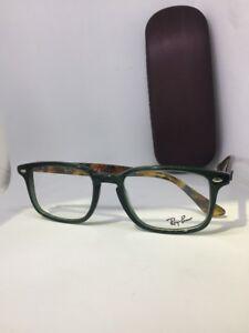 b5910817c3 NEW Authentic Ray Ban RB 5353 5630 Green-Havana RX Eyeglasses 52-19 ...
