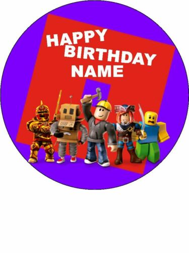 ROBLOX edible cake//cupcake toppers Icing or Wafer Paper