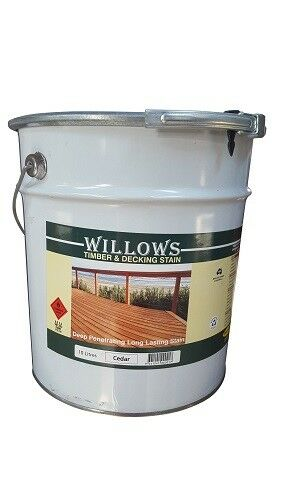Willows Timber Deck Furniture Window Beams Stain Paint OiL Based 10L Cedar