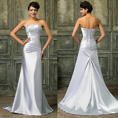 MERMAID Long Evening Formal Party Ball Gown Prom Wedding Bridesmaid Dress 6-16+