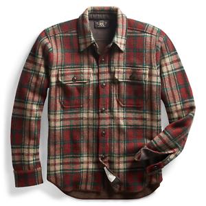 60e141a065d4 Ralph Lauren Wool Cashmere Blend Work Shirt Sweater-MEN- XL RRL ...