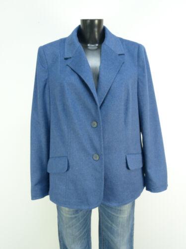 Liz Design Malraux als nieuw 100 kasjmier blauw 42 O 0746 jas maat rCrqR5w