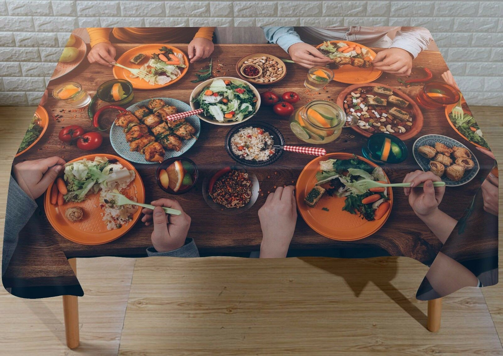 3D Various Food 7 Tablecloth Table Cover Cloth Birthday Birthday Birthday Party Event AJ WALLPAPER afe663