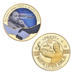 WR Martin Luther King Jr.Gold Collect Moneda Coin PREMIO DE LA PAZ DE NOBEL