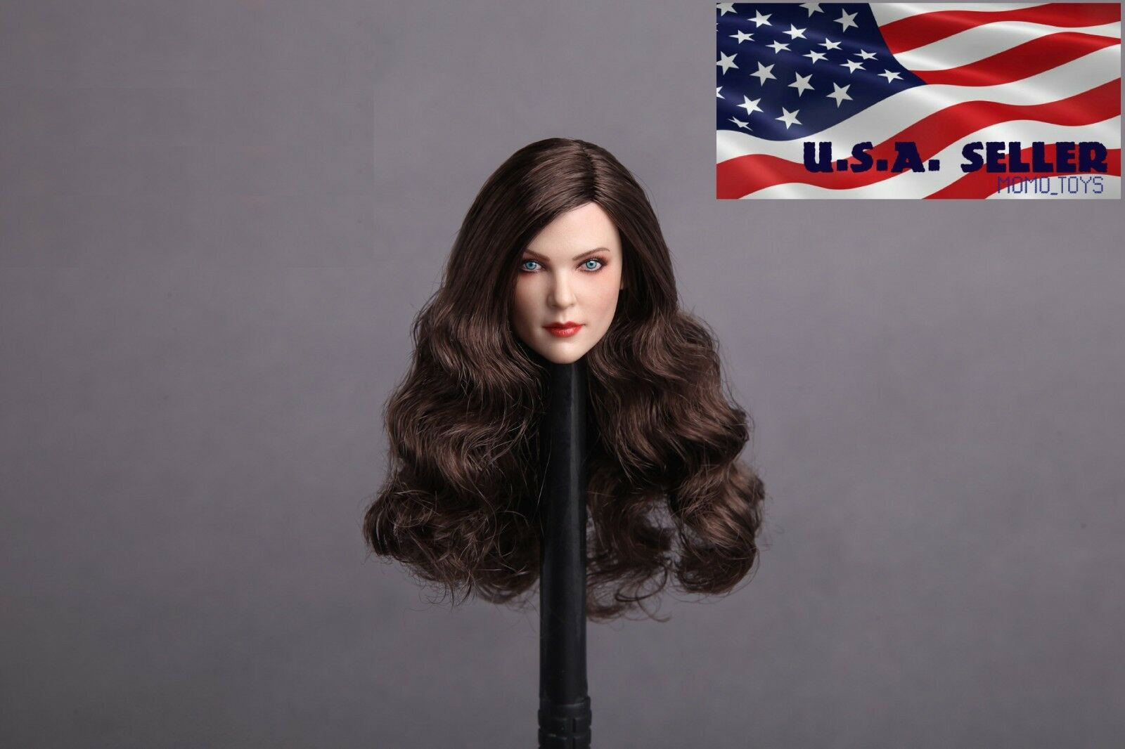 1 6 Female Head Sculpt American European European American BROWN HAIR Phicen Hot Toys Figure ❶USA❶ 0650db