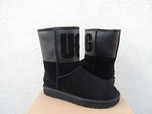 02cb624531d Details about UGG BLACK CLASSIC SHORT UGG RUBBER SUEDE/ SHEEPWOOL BOOTS, US  6/ EUR 37 ~NIB