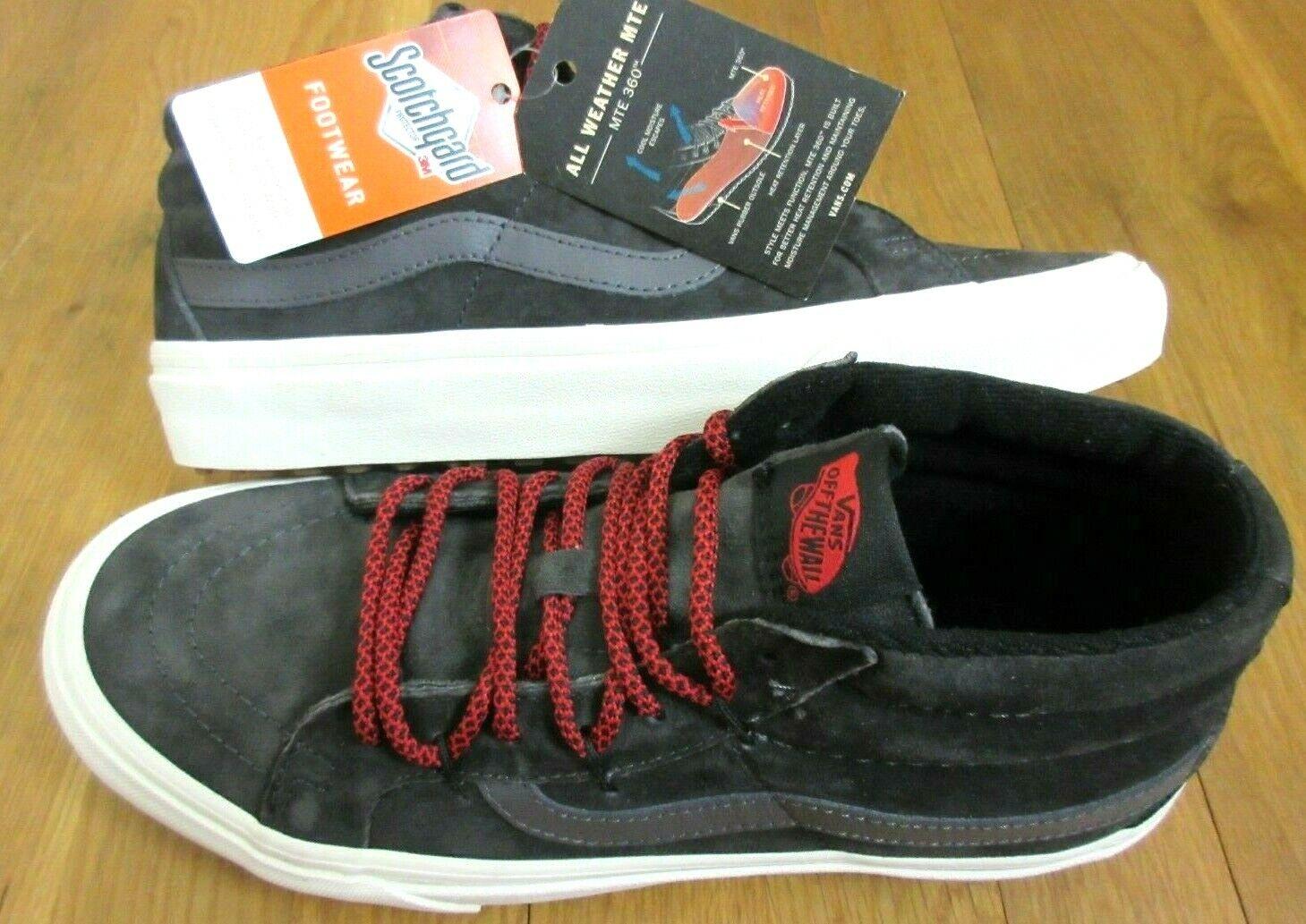 Vans para hombre Sk8-Mid reedición Mte todo tipo de clima Hierro Forjado gris Zapatos Nuevo con etiquetas
