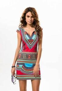 Lady-Dashiki-Summer-Traditional-African-Dress-Casual-Clubwear-Party-Mini-Dress