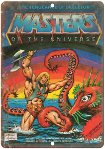 "Masters of the Universe Mattel Electronics 10/"" X 7/"" Reproduction Metal Sign G47"