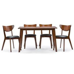 Image Is Loading Mid Century Dining Set Modern Kitchen Table Chairs