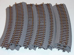 15x-ROCO-42522-R2-RAIL-de-TRAIN-track-Line-HO-1-87-Gleise-Schienen-ZUG-gare-VOIE