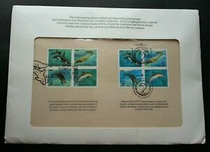 [SJ] USA Russia Joint Issue Sea Creatures 1990 Whale Dolphin Marine FDC (folder)