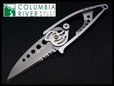 Couteau CRKT Ed Van Hoy Snap Lock Lame Acier420J2 Serr Manche Acier CR5112N