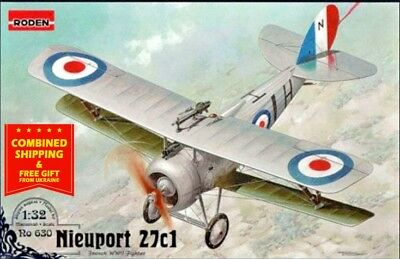 Nieuport 28C1 French fighter-biplane WWI plastic model kit Roden 616-1//32