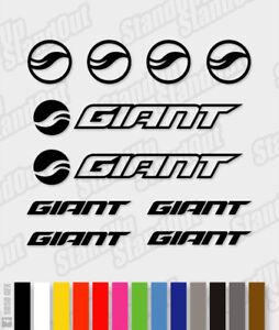 GIANT Die-Cut Decal Sticker feuille (cyclisme, vtt, bmx, Vélo, Cadre) - V5  </span>