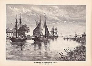 Holtenau-Brunsbuettel-Bauphase-Nord-Ostsee-Kanal-1889-Holzstiche-Texte