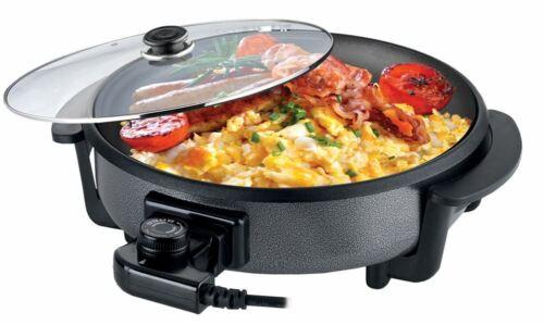 Leisurewize Basse Puissance Multi fonction électrique cuisson Pan Friteuse Grill Poêle