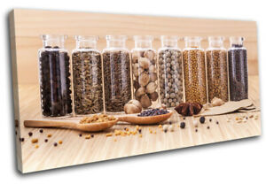 Spices-Herbs-Cooking-Food-Kitchen-SINGLE-CANVAS-WALL-ART-Picture-Print