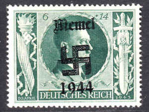 GERMANY B232 MEMEL OVERPRINT OG NH U/M VF/XF BEAUTIFUL GUM