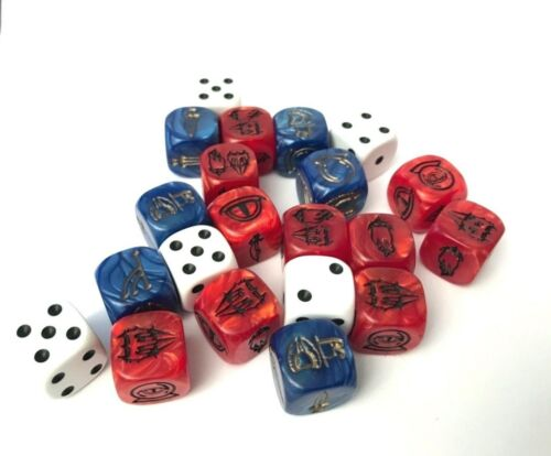 21 Würfel Dice Runenwürfel Der Ringkrieg Brettspiel Herr der Ringe Hobbit
