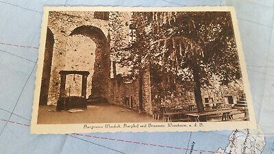 AnpassungsfäHig Burgruine Windeck Burghof Brunnen Ak Postkarte 12187 Neueste Technik Ansichtskarten