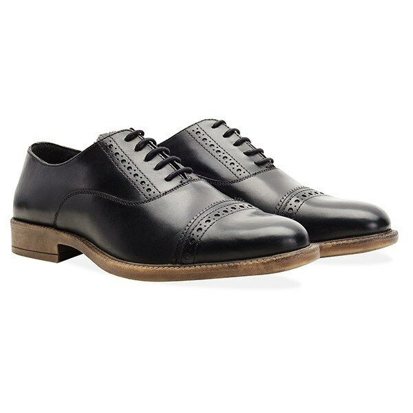 Redfoot Leather Barnaby Black Oxford Lace Up Mens shoes UK 9 Euro 43