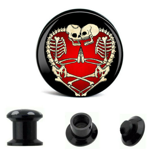 Pair of High Gloss Quality EAR GAUGES Plugs Tunnels earrings VOTED BEST SELLER
