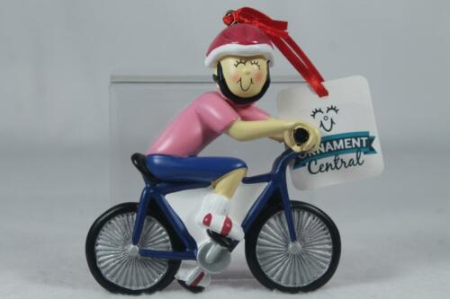 Details about  //'Bike Rider Ornament/' Female By Ornament Central #OC-123-F NEW!