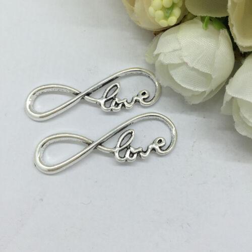 The new alloy,love Tibetan Silver Bead charms Pendants fit bracelet 10pcs