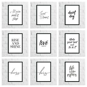 Bedroom-Home-High-Gloss-Art-Quotes-Prints-Room-Wall-Modern-Funny