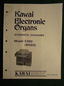 Kawai Electronic Organ E360 M460 Schematic Diagrams Manual E ... on