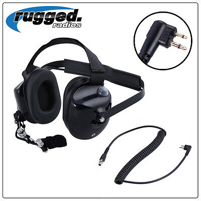 BTH Headset with MOTOROLA Cord Rugged Racing Radios Electronics Communications