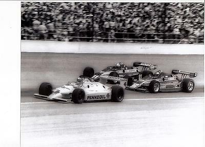 MARIO ANDRETTI JOHNNY RUTHERFORD BOBBY UNSER 1980 INDIANAPOLIS 500 8x10 PHOTO