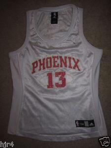 9fe8f80a5f9 Steve Nash  13 Phoenix Suns Adidas Pink Jersey Womens Sm Small