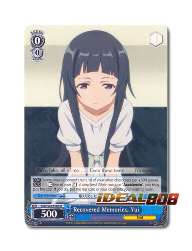 Engl SAO//S26-E068 U Yui Weiss Schwarz Sword Art Online x 4 Recovered Memories