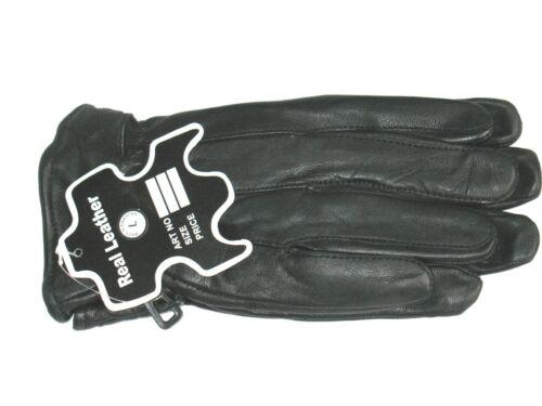 Large XL XXL XXXL Winter Gloves Genuine Leather Black Gloves Sizes Medium