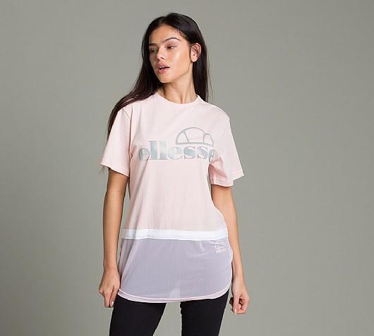 8177aaf313 ellesse Women's T Shirt Pink Melegrana Sz 8uk