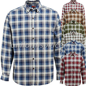 CMCYY Mens Junior Plaid Long Sleeve Buffalo Casual Button Front Shirts
