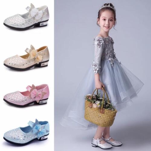 Girls Princess Shoes High Heels Cosplay Princess Cinderella Wedding Party Shoes