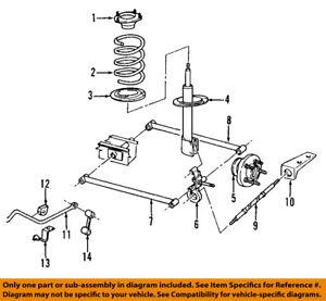 dodge chrysler oem 03-04 neon rear suspension-strut 5272698ac   ebay dodge neon suspension diagram extended cab s10 roll cage ebay