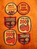 Lot Of 6 Old Patch Patches Vintage Bowling Wibc Women Tournament Old League