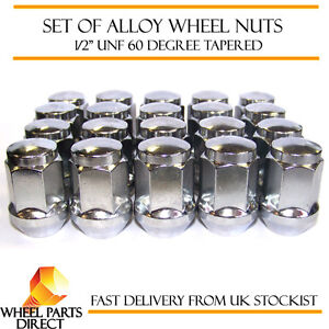 """1//2/"""" UNF Tapered for Ford Ranchero Turnier 97-99 20 Alloy Wheel Nuts Black"""