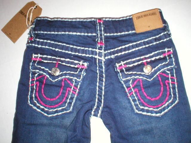 60bd83423953 New Girls NWT  156 True Religion Brand Jeans 6 Stella Skinny Super T Blue  Pink