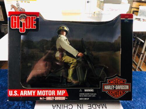GI JOE US ARMY Pistolets mitrailleurs avec HARLEY-DAVIDSON MOTO