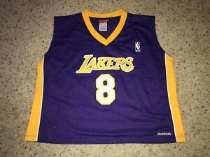 Kobe Bryant Los Angeles Lakers Reebok Stitched VTG Crop Top Jersey ...