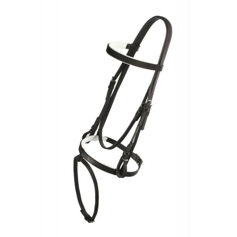 Equestrian Sports Horse Collar Harness Equitation Leather Bridle Halter Driving