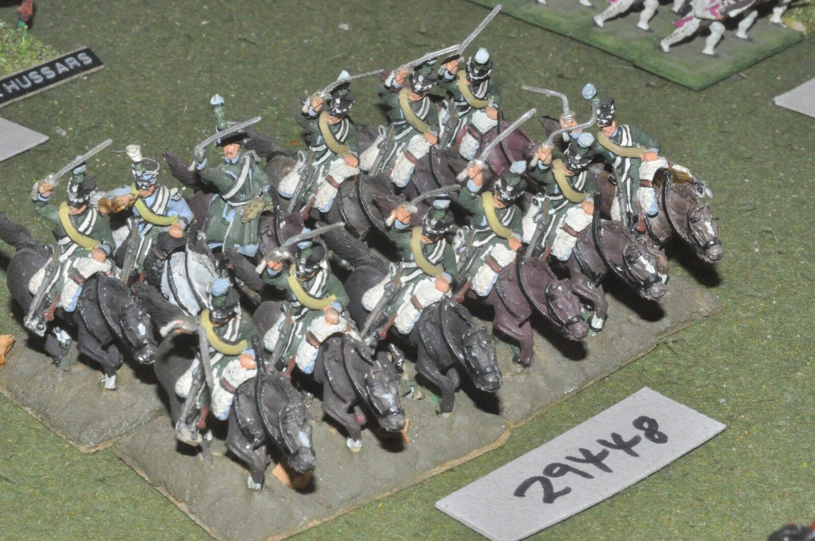 25mm napoleonic   french - chasseur a cheval 12 figures - cav (29448)